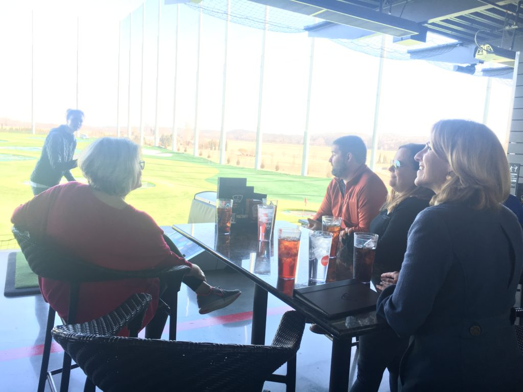 Team day at Top Golf